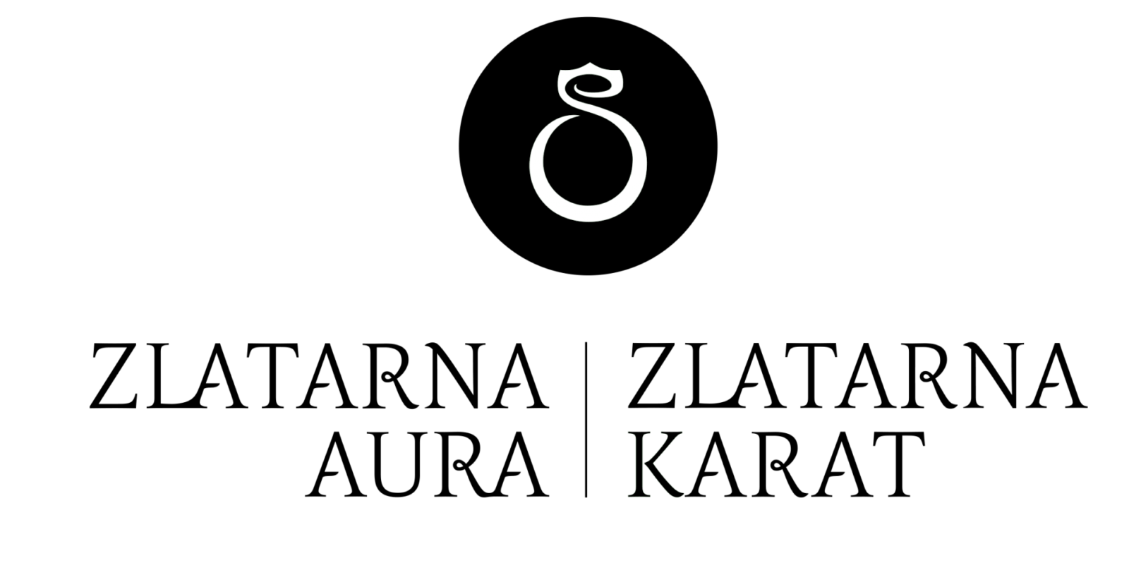 "Logotip Zlatarna Aura in Karat najnovejši črno beli na transparentni podlagi 1 - A ""Tip-Top"" song brings Nuša back to EMA after six years!"